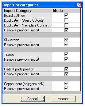 Import to Categories