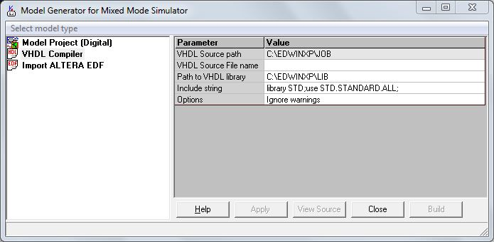VHDL code to Mixed Mode Generator