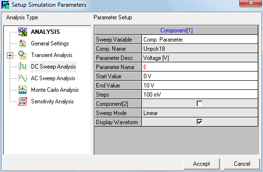 Setup simulation parameters