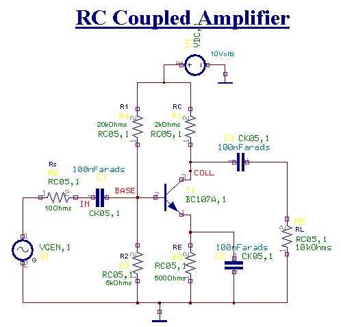 RC Coupled Amplifier