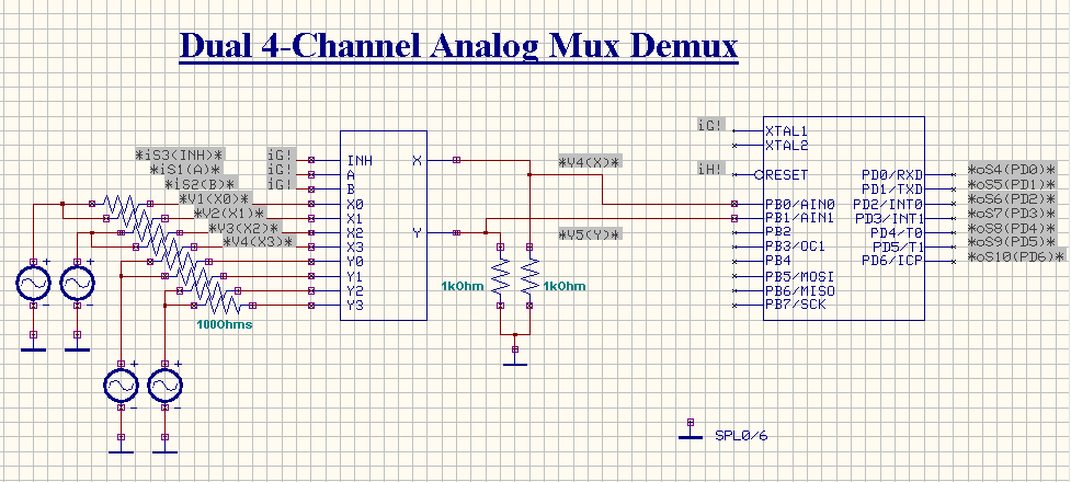 Dual 4-Channel Analog MUX and DEMUX