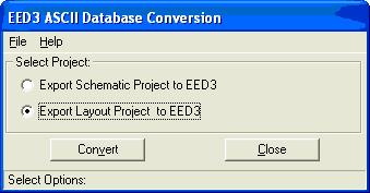 EED3 ASCII Database Conversion