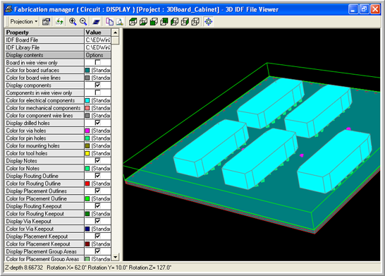 3D IDF File Viewer