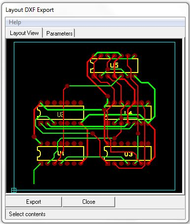 Layout DXF Export