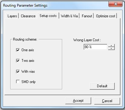 Set auto router parameters