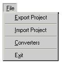 File menu of Netlist / Wirelist Export and Import