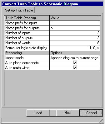 Convert truth table to diagram components in the diagrams resulting from truth table conversion may be automatically placed according to selected placement in the schematic ccuart Image collections